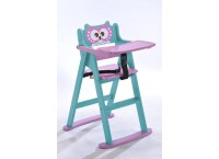 Folding high chair with OWL design